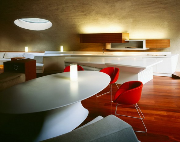 Futuristic Home Design with Natural Environment in Japan - Dining Room