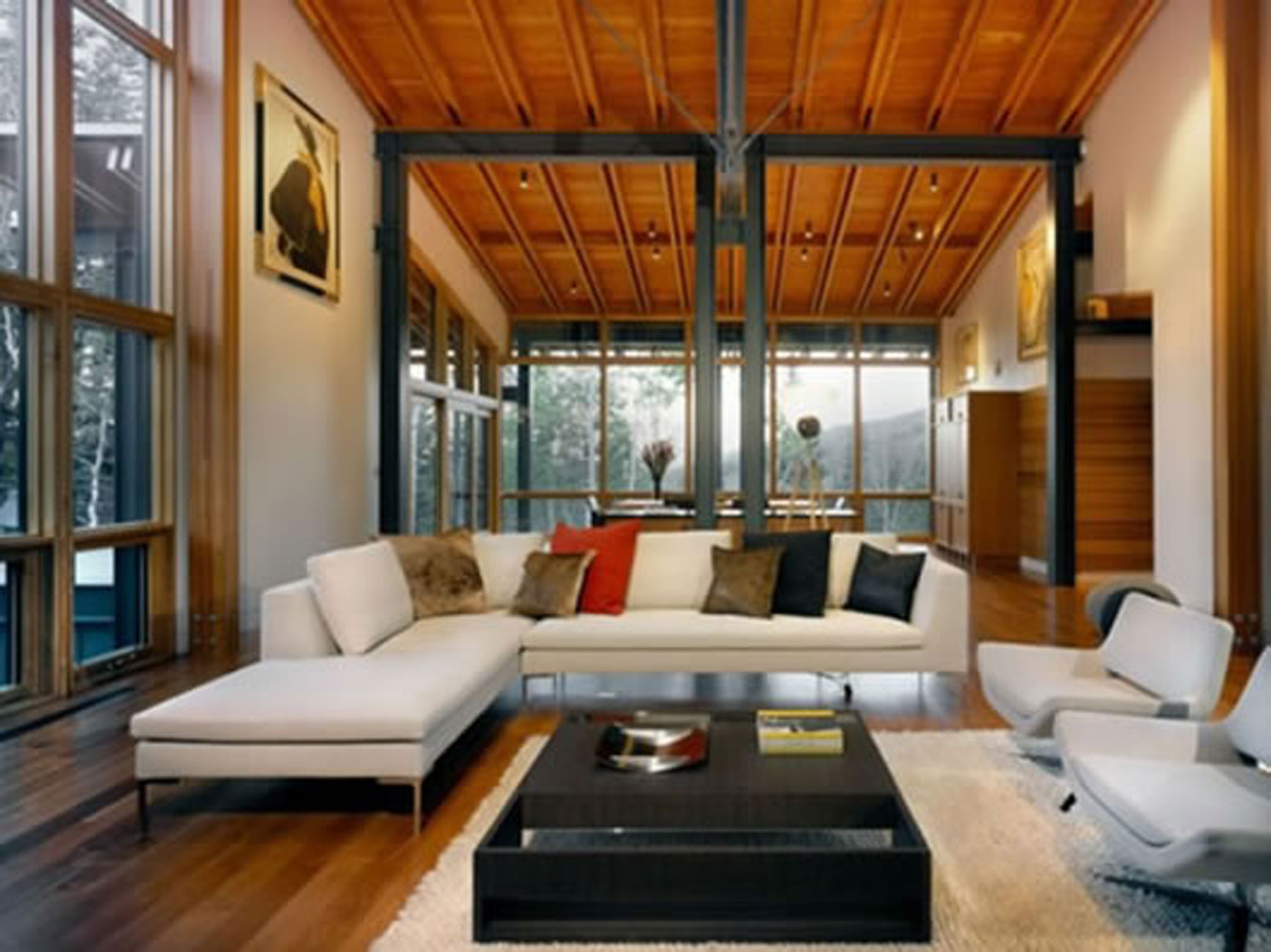 Hillside Terrain Residence, Luxury Living Space from Bohlin Cywinski Jackson - Livingroom