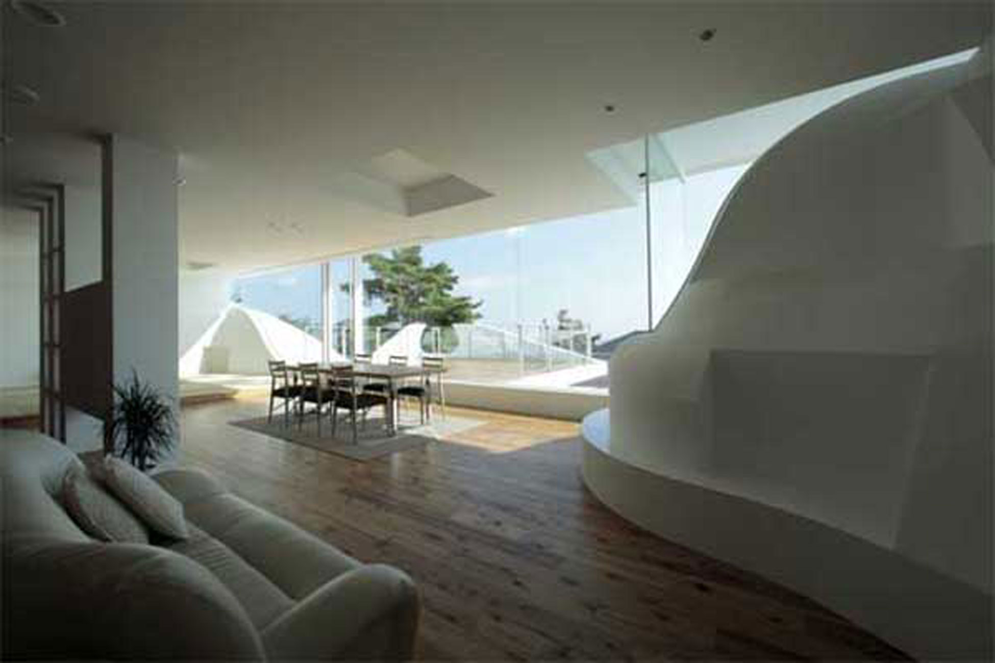 Japan Architect Design, Fabulous Mountain House in Hyogo - Interior