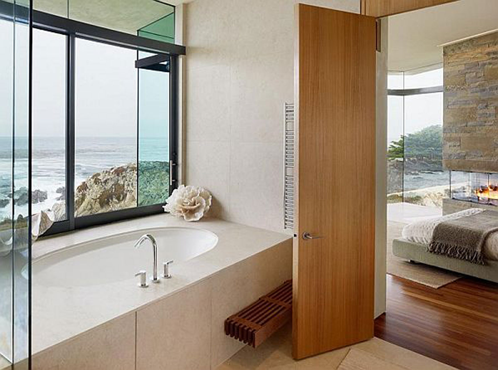 Luxurious Mountain House Design, Otter Cove Residence by Sagan Piechota - Bathroom