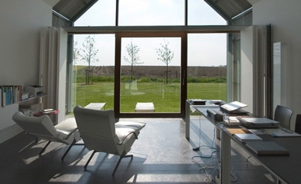 Modern Home Design, Sustainable Barn House Shaped - Interior