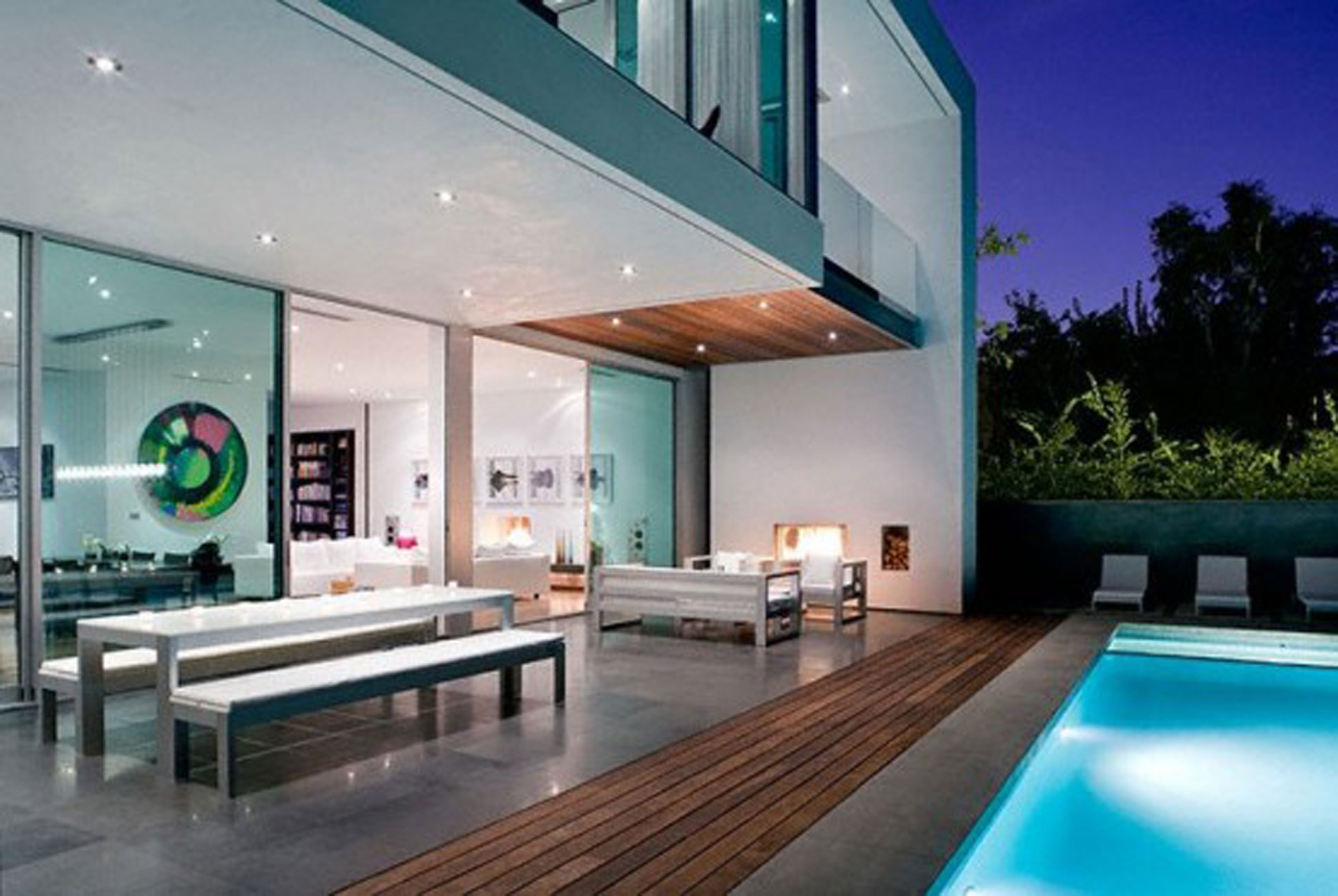 Contemporary House Interiors. Modern House Design With Comfortable Interior  Ideas Pool