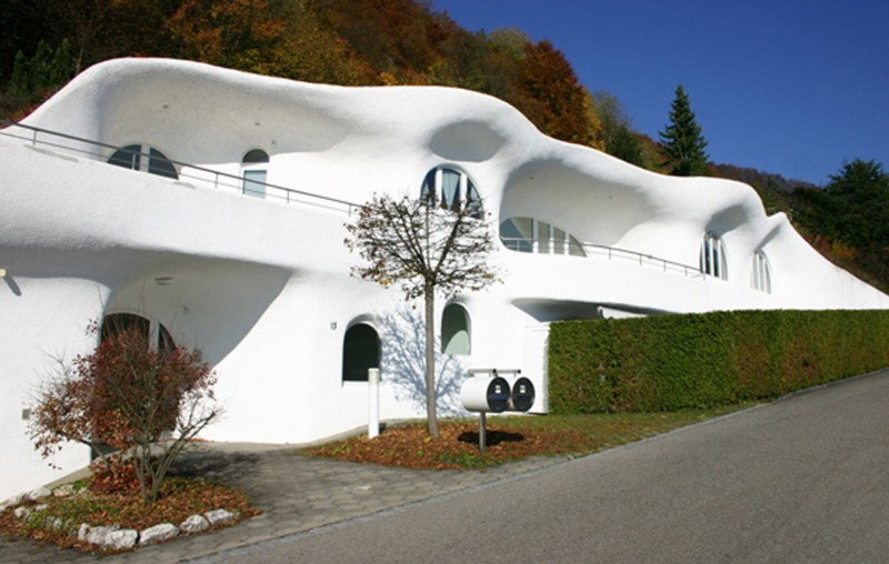 Modern Mountain House With Unique Architecture From Peter Vetsch   Facade