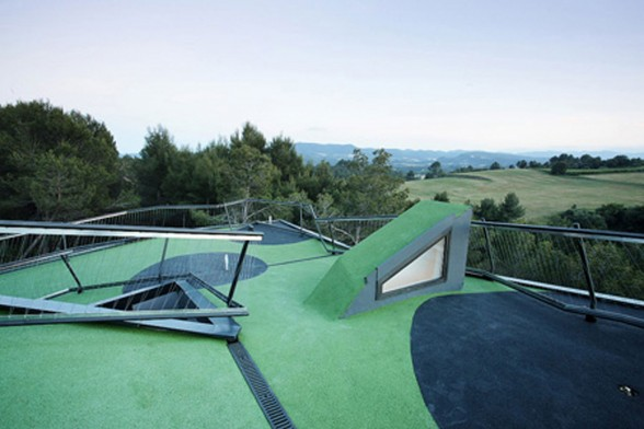Modern Villa with Rooftop Golf Course - Mini Golf