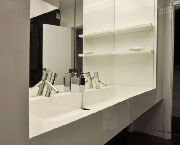 Modern and Minimalist Apartment Ideas from Bulgarian Architect - Bathroom