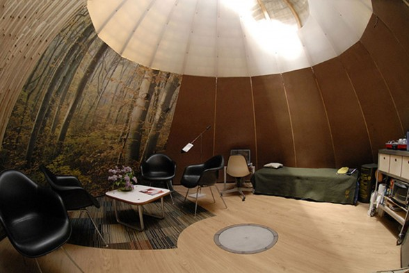 Native American Tent Architecture, Futuristic Tipi Design - Interior