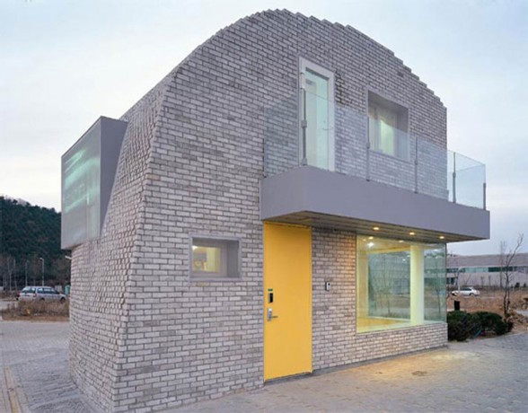 Pixilated House Architecture, Modern Home Design in Korea - Facade