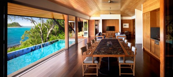 Qualia, Luxury Villa in Great Barrier Reef Australia - Dining Room