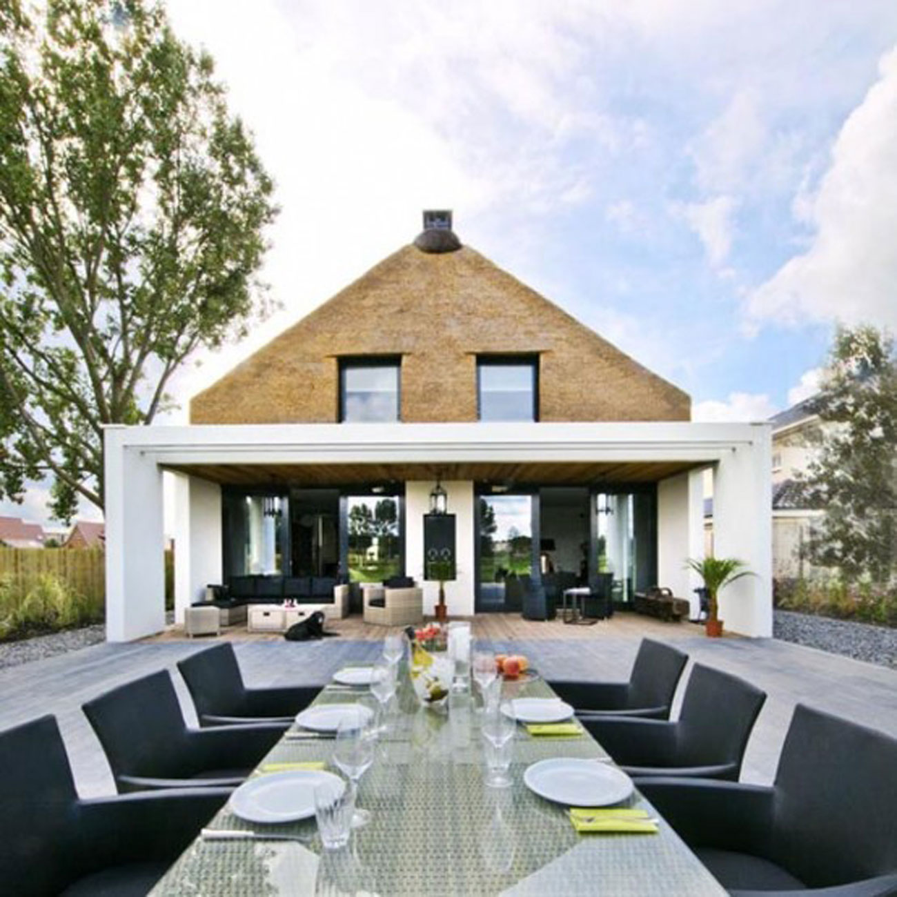 Rustic Style For A Modern House Design From Arjen Reas Outdoor Dining Table Viahouse Com