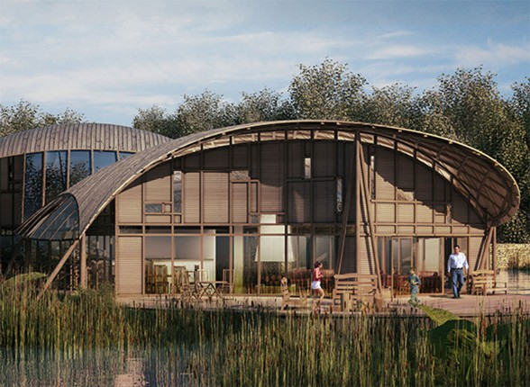 Sustainable Wooden Home Design in England - Lake