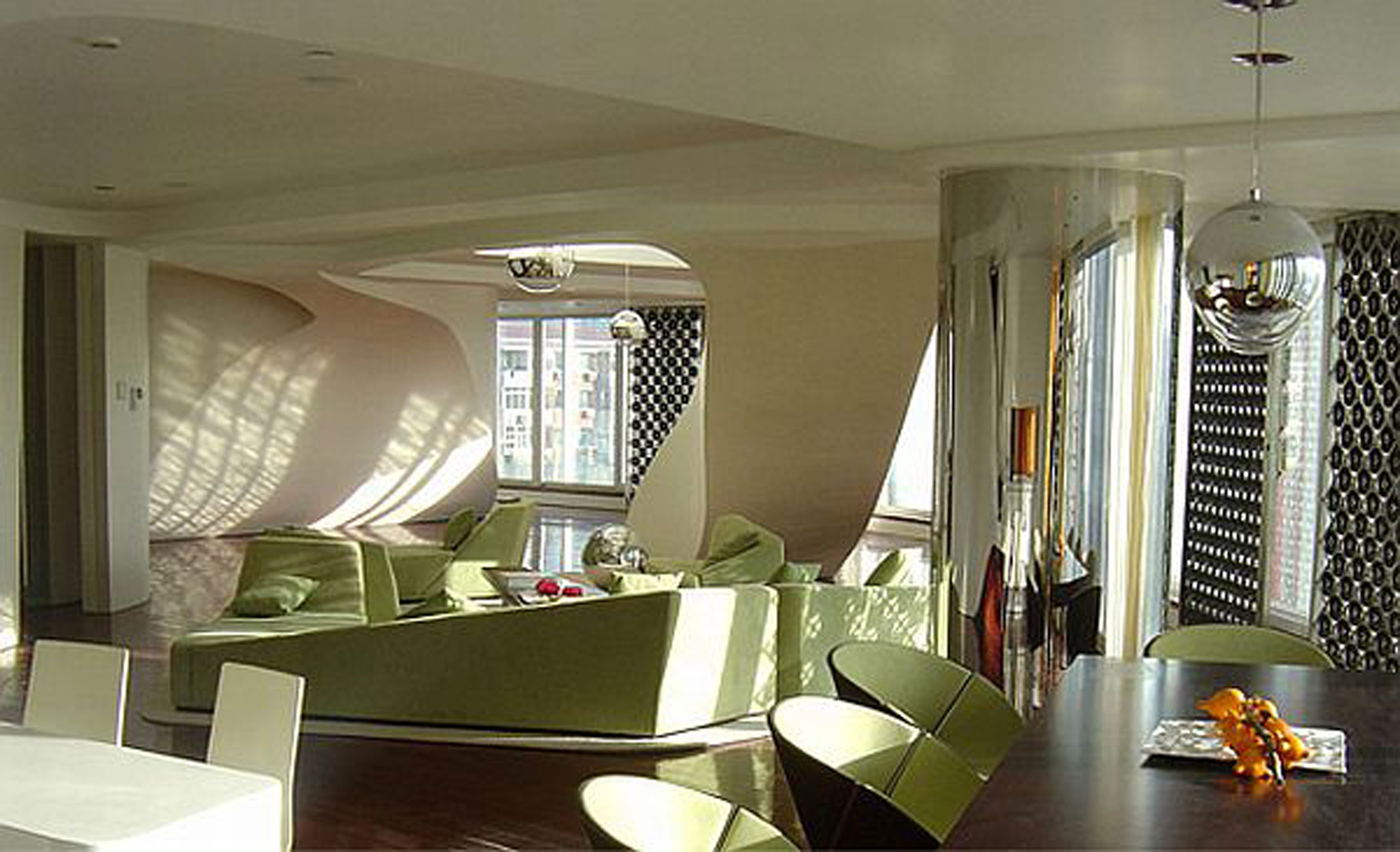 Beijing Chateau Bold Design And Strong Color Residence From Graft Livingroom Viahouse Com