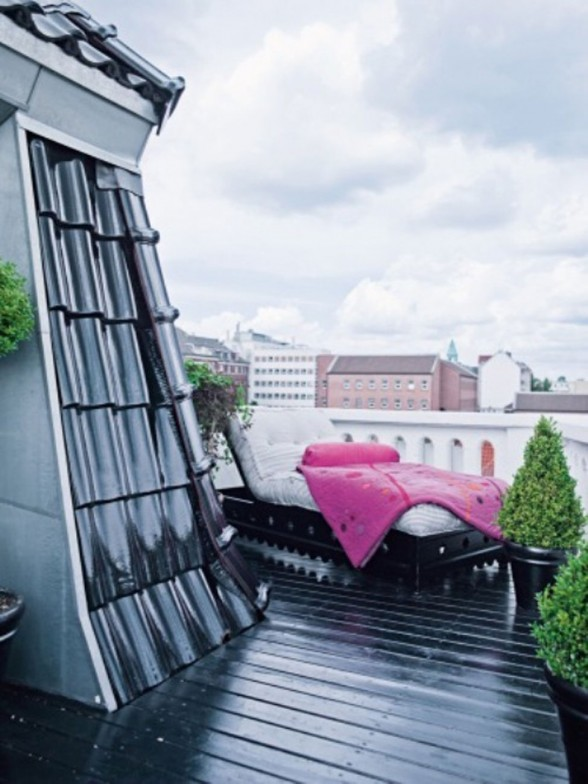 Bright Apartment Interior Design by Nina Nyborg - Rooftop Terrace