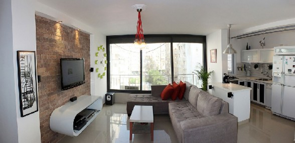 Comfortable Modern Apartment Inspiration from Tel Aviv  - Livingroom