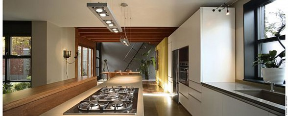 Contemporary House Design, Redesigned Industrial Building by Natalie Dionne - Kitchen