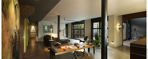Contemporary House Design, Redesigned Industrial Building by Natalie Dionne - Working Desk