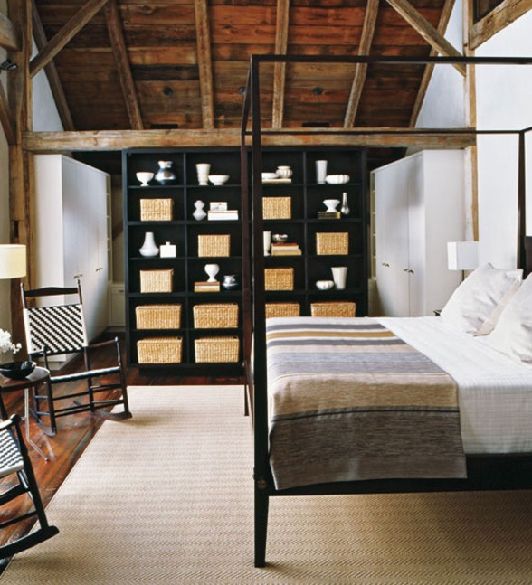 Contemporary House Design from a Barn with High Quality Wood Furniture - Bedroom