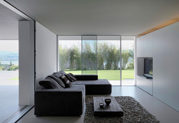 Contemporary Lake House in Swiss by Gus Wustemann - Livingroom