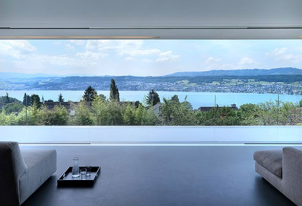Contemporary Lake House in Swiss by Gus Wustemann - Panoramic View