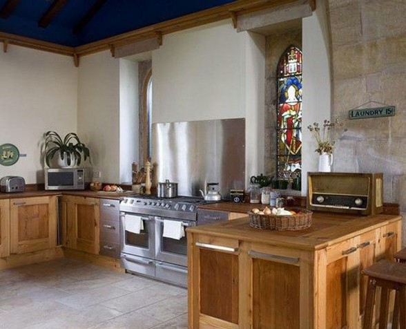 Georgian House Design made from Old Church in England - Kitchen