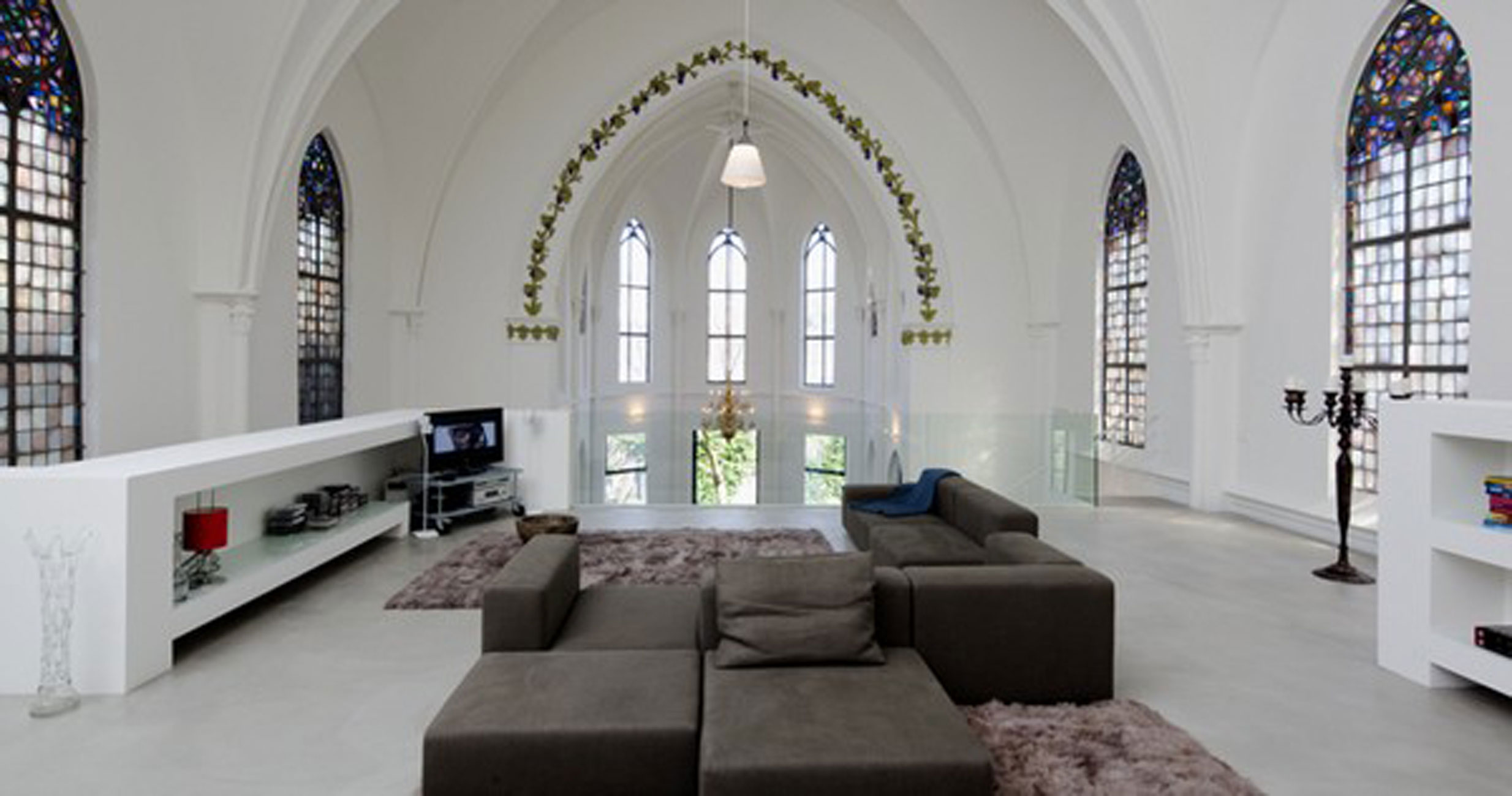 Gothic Church Turned Into White Contemporary Home In 2009