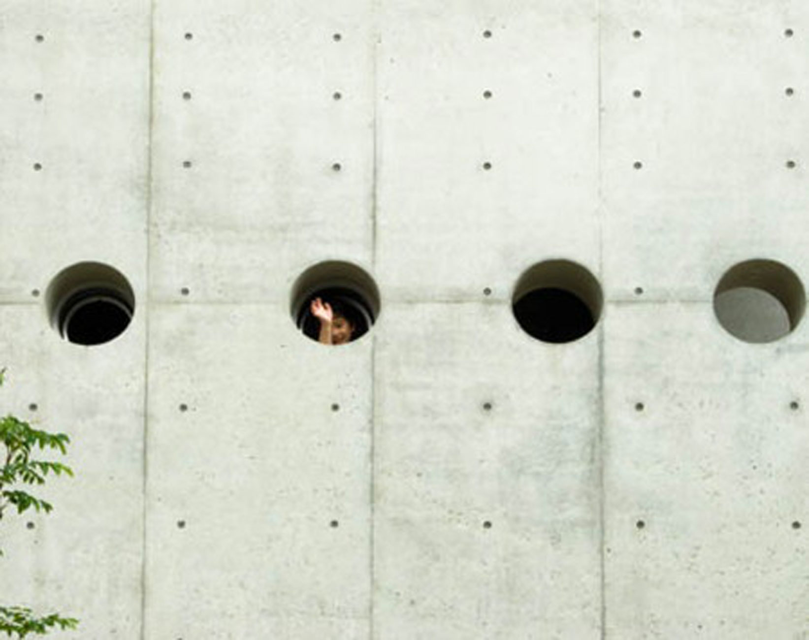 Holey Concrete Home Design with Contemporary Style in Japan - Walls Details
