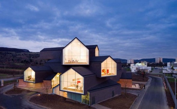 Interesting Architecture of Vitra Haus with Panoramic Views