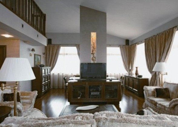 Luxurious Apartment Interior Ideas in Moscow - Living room