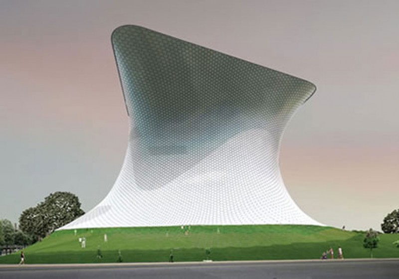 Mexico City Futuristic Building, Soumaya Art Museum   Architecture