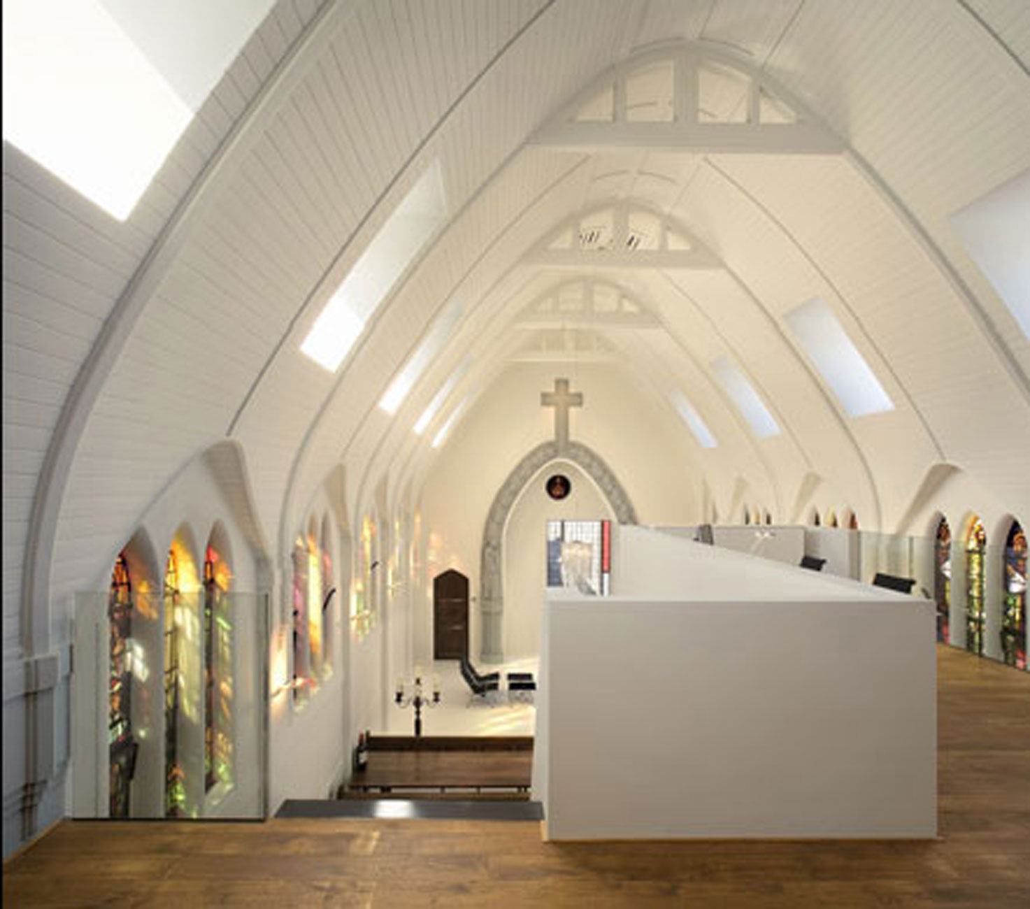 Modern Apartment Redesigned from Dutch Chapel - Second Floor