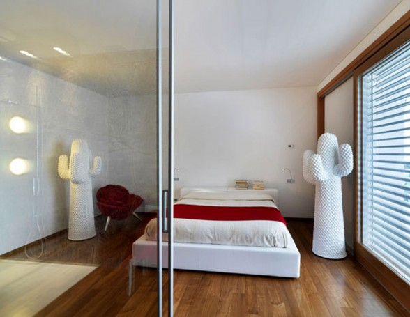 Modern Countryside House Design in Italia from Damilano Studio - Bedroom