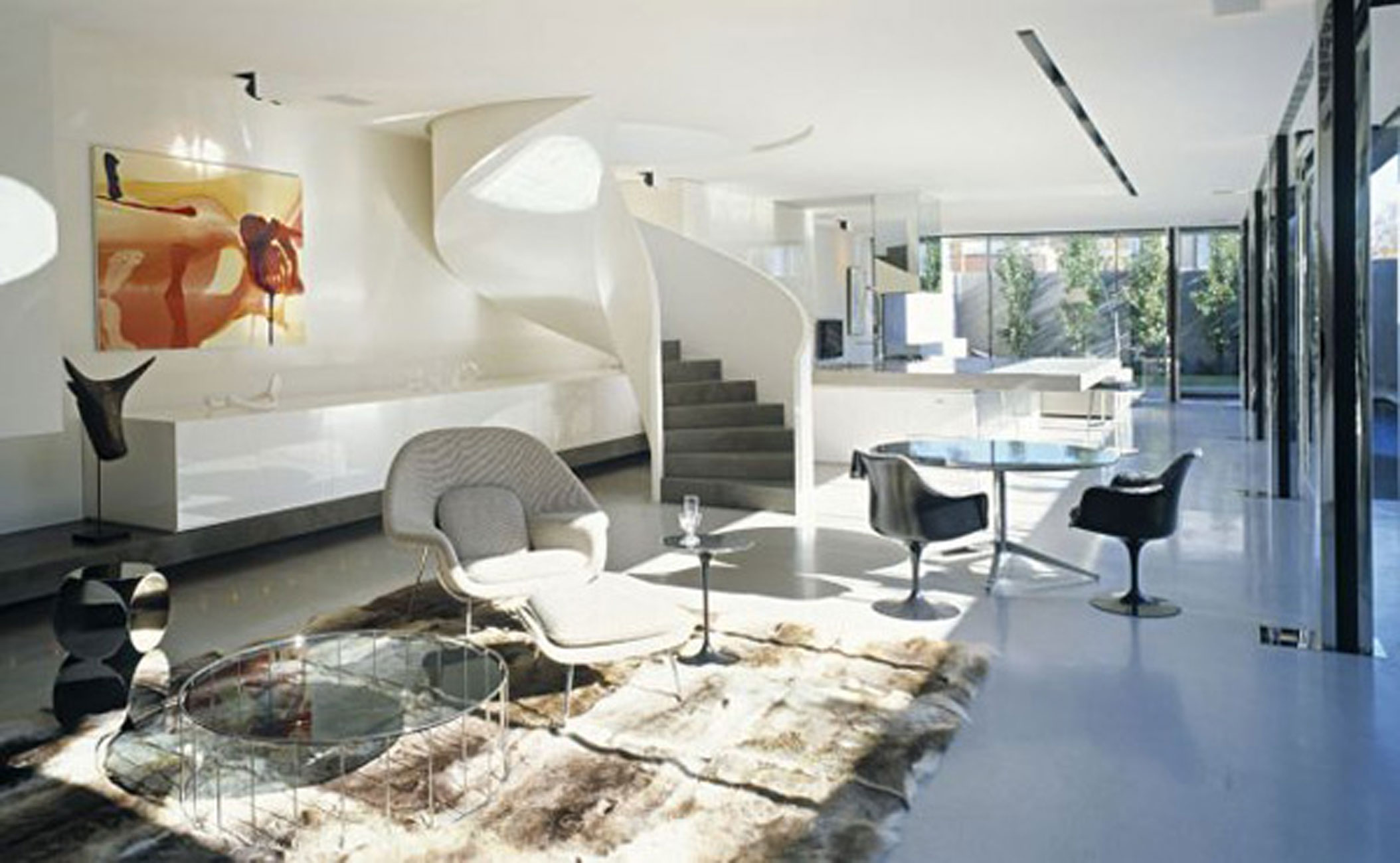 Modern Interior Design For A Modern Interior Design For A Contemporary  Concrete House In