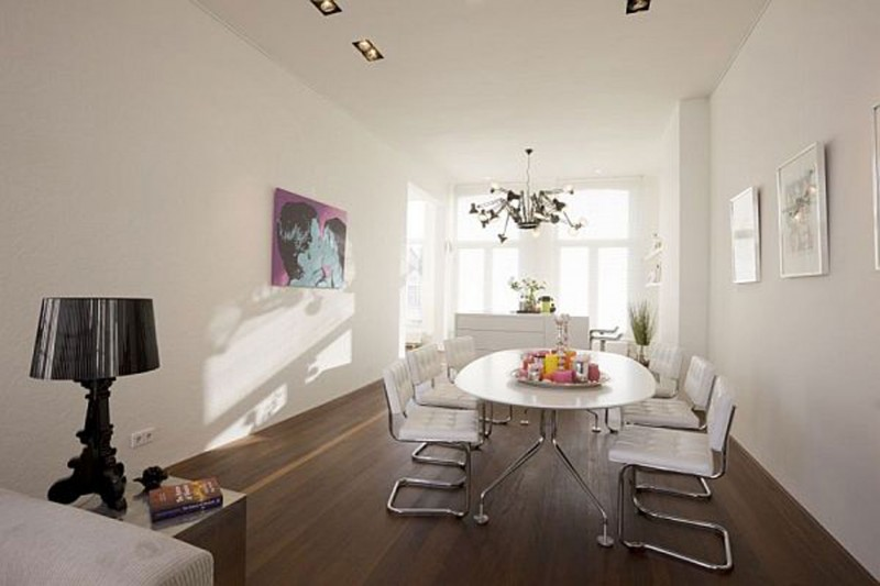 Modern Interior Ideas From Renovated Apartment In Amsterdam   Dining Table