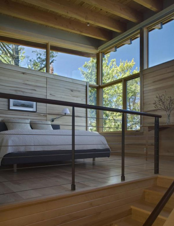 Modern Lake House with Amazing Interior Design from Finne Architect - Bedroom