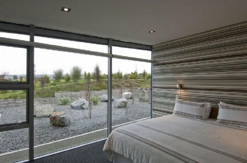 New Zealand Retreat, Modern Style In Solid Boxes Architecture   Bedroom