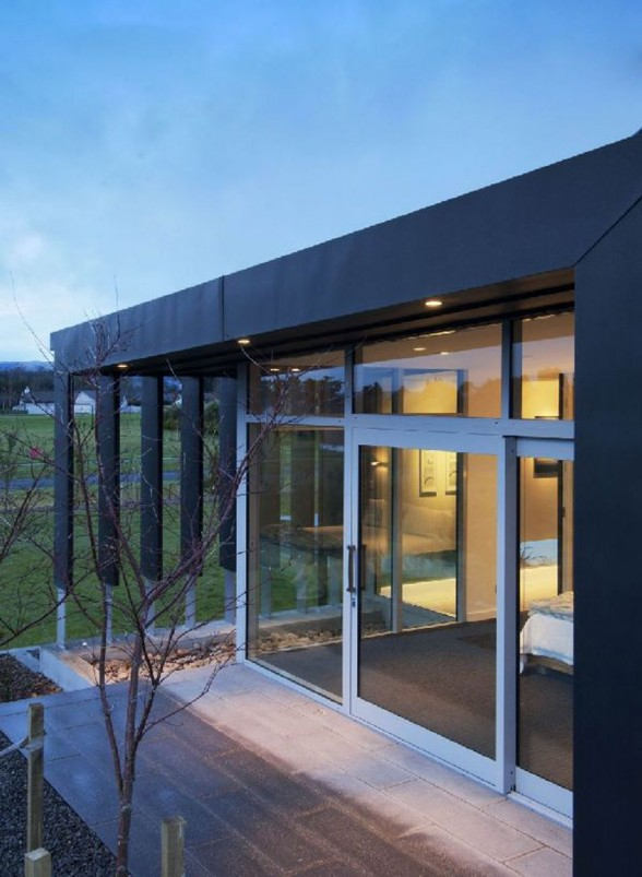 New Zealand Retreat, Modern Style in Solid Boxes Architecture - Entrance
