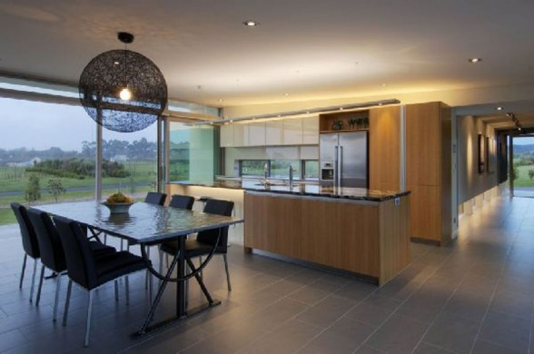 New Zealand Retreat, Modern Style in Solid Boxes Architecture - Kitchen