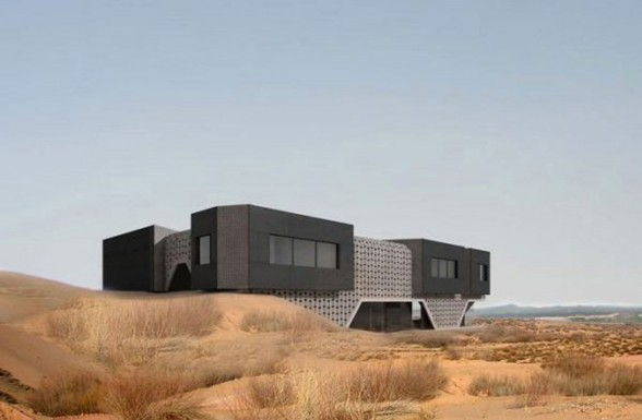 Ordos 100 Project in China By HHF Architect, The Dune Home - Desert
