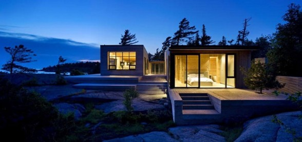 Shift Cottage, Luxury Lake House Design from Superkul in Canada