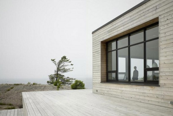 Shift Cottage, Luxury Lake House Design from Superkul in Canada - Terrace