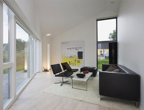 Solid Architecture of Country House in Denmark - Living room