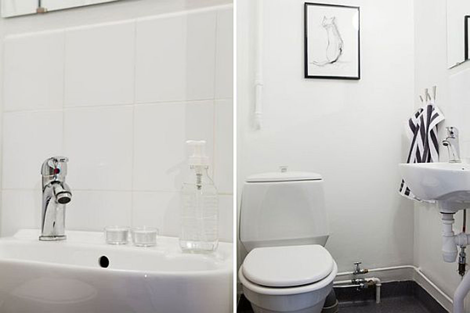 Swedish Interior Ideas in White Color - Bathroom