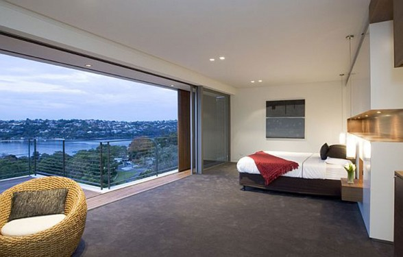 The Mosman, Luxurious Residence in Sydney from Corben Architects with Beautiful Views - Bedroom