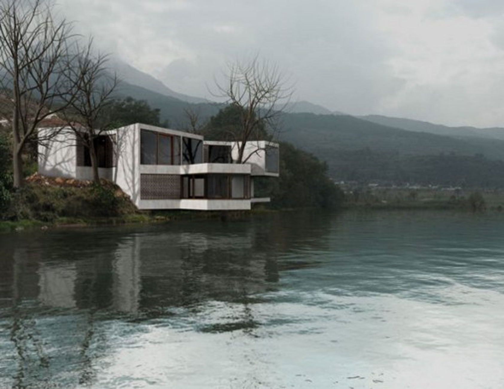 Treehouse, Geometric Guest House Design in China - beside ...