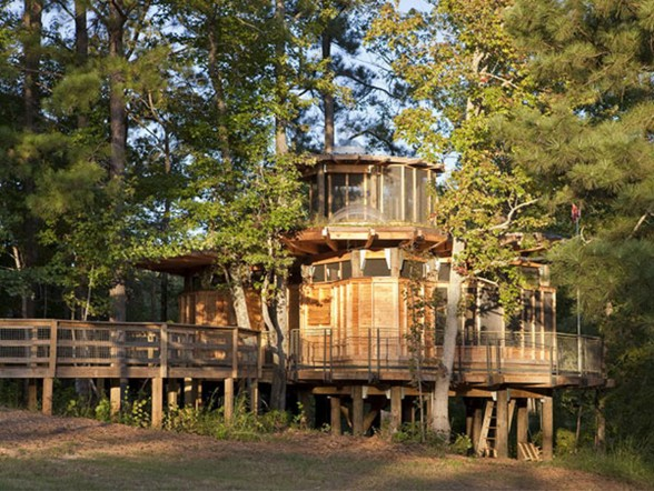 Two-Storey Wooden House with Rustic Style of Architecture - Wooden Environment