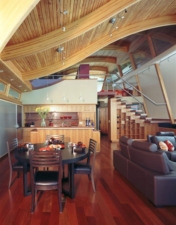 Unique Architecture of Floating House from Robert Harvey Oshatz - Dining Table