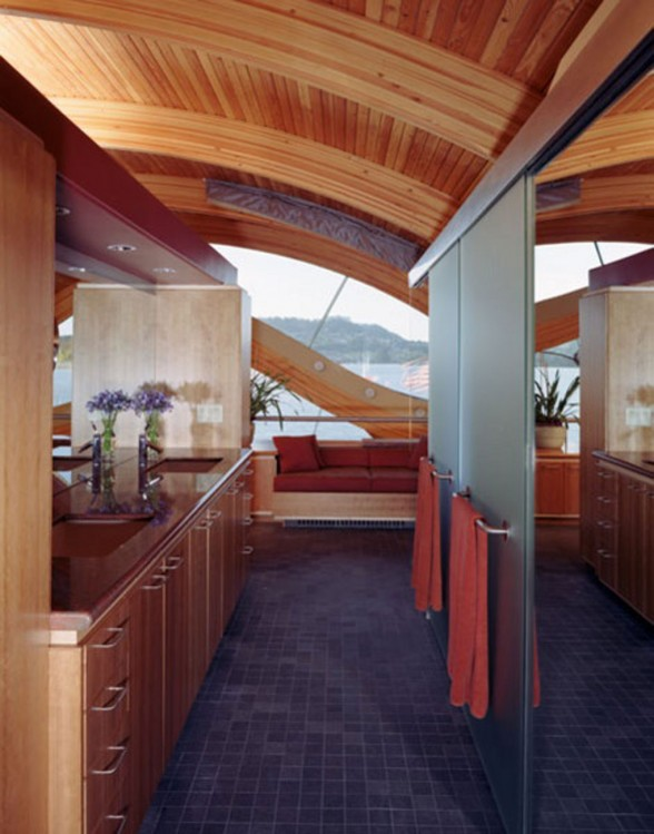 Unique Architecture of Floating House from Robert Harvey Oshatz - Kitchen