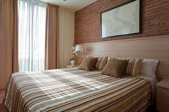 Warmth and Comfy Apartment Ideas In 55 Square Meter of Barcelona - Bedroom