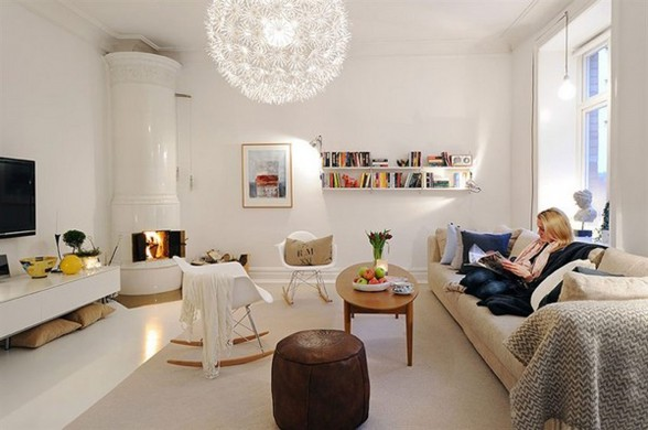 White Apartment Interior Ideas in Sweden