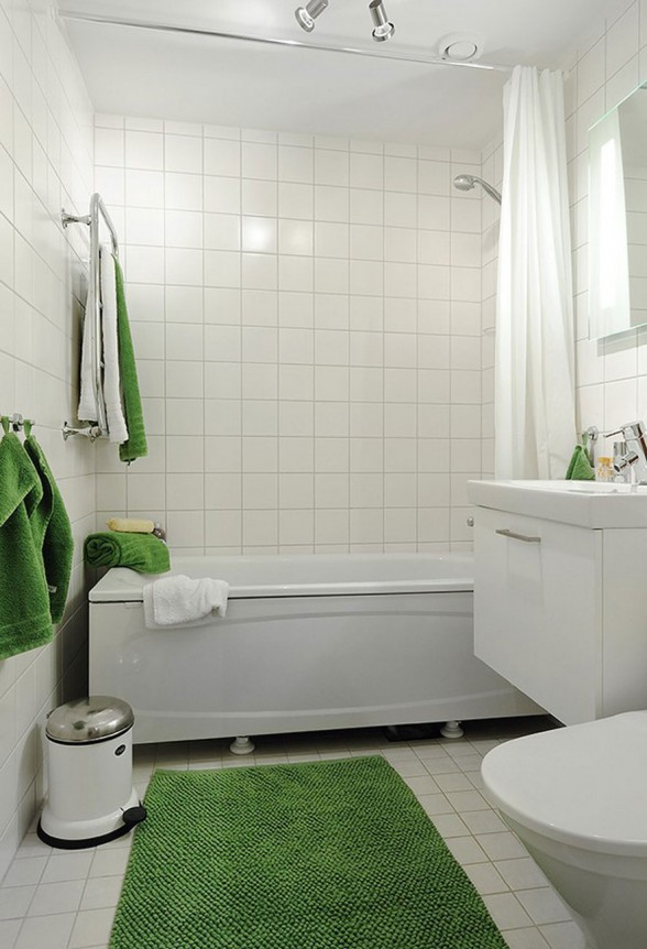 White Apartment Interior Ideas in Sweden - Bathroom