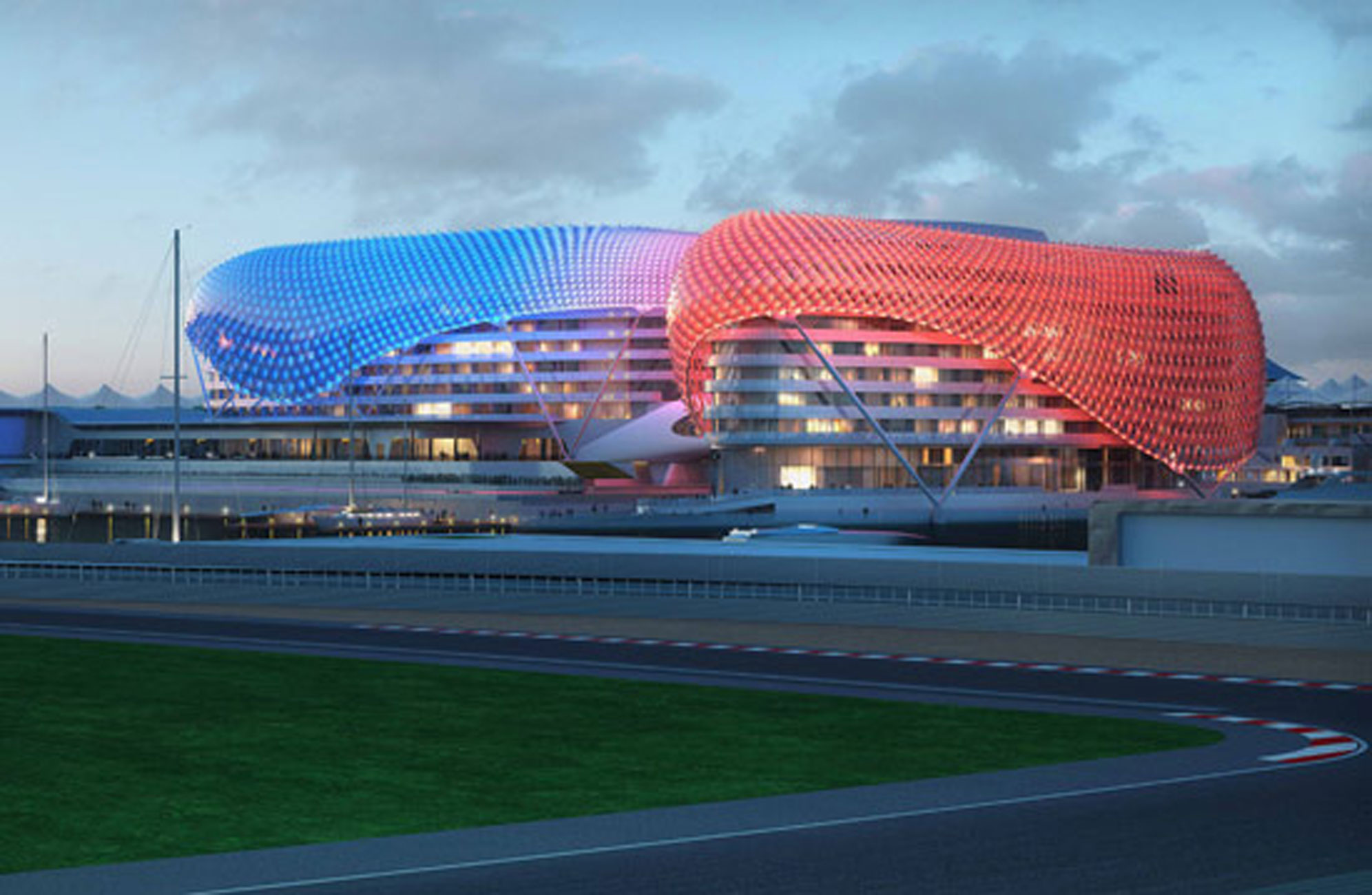 Yas Marina, Modern Arabian Hotel in Abu Dhabi - Architecture